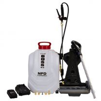 The Boss 4 Gallon Interior-Exterior Liquid and Foam Backpack Sprayer c/w Mobile Cart