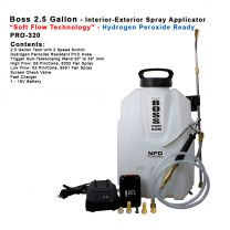 """PRO-320HP  2.5 Gallon - Hydrogen Peroxide Spray Applicator with """"Soft Flow Technology"""""""